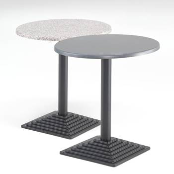 Cafébord med Topalitskiva, Runt