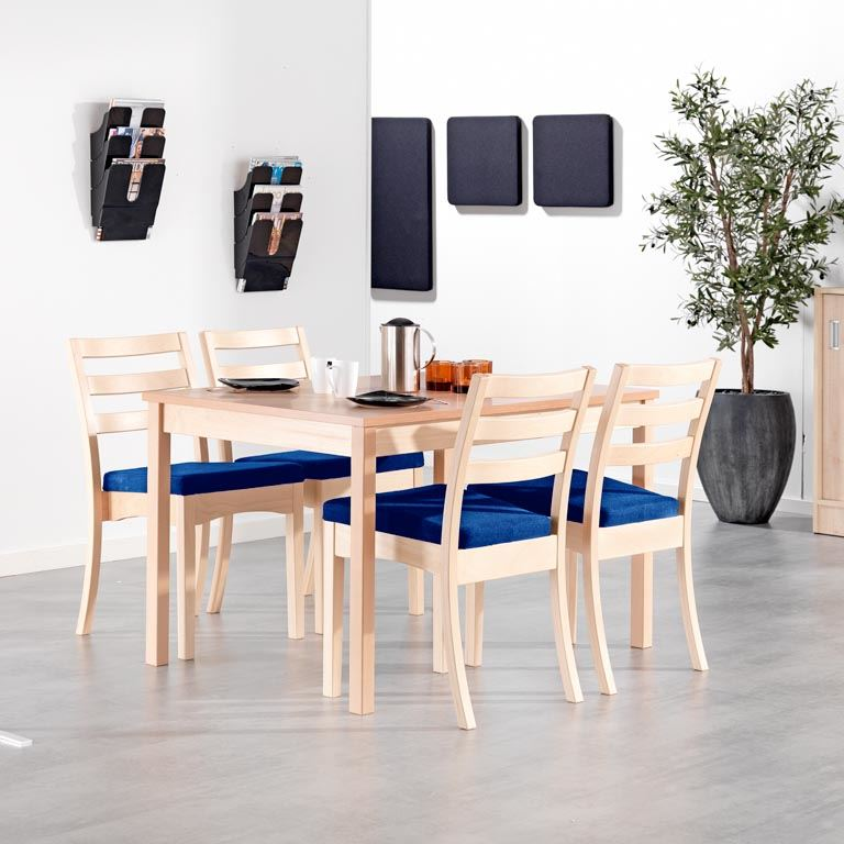 Canteen package deal: beech table + chairs