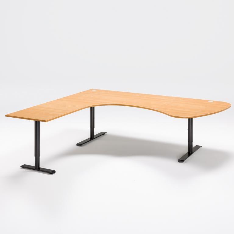 """Adeptus II"" Adjustable desk, executive L shape"