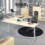 Adeptus II Adjustable desk, executive L shape