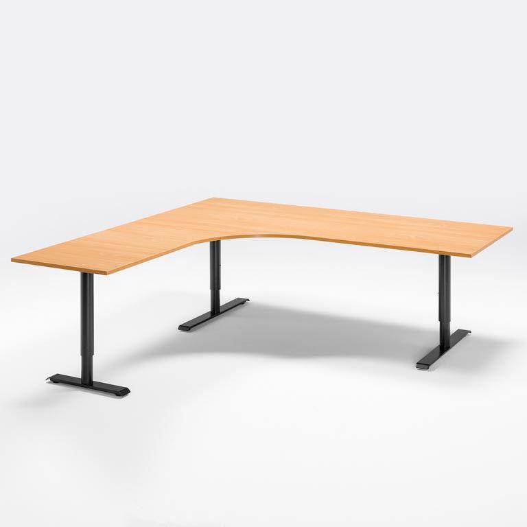 """""""Adeptus II"""" Adjustable desk, L shape"""