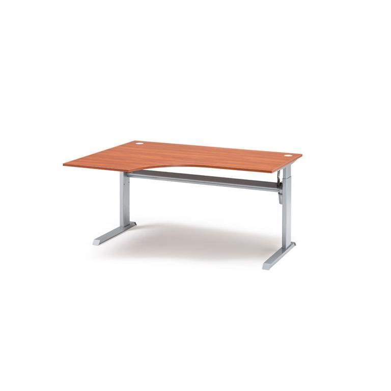Elektriskt höj- /sänkbart hörnskrivbord Flexus, L-stativ