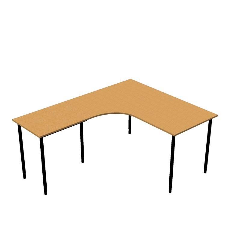 Paket: Hörnskrivbord + avlastningsbord