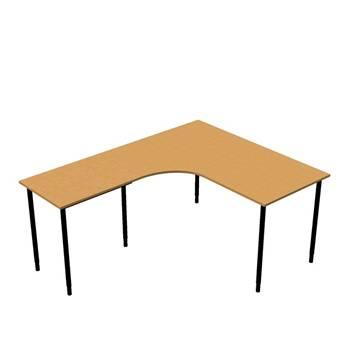 Hjørneskrivebord Adeptus med avlastningsbord