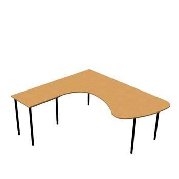Hjørneskrivebord Adeptus + avlastningsbord