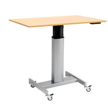 Mobilne biurko z blatem prostokątnym i napędem elektrycznym