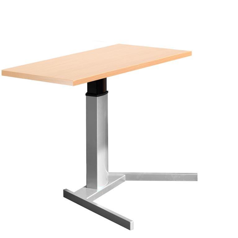 Biurko z blatem prostokątnym napędem elektrycznym