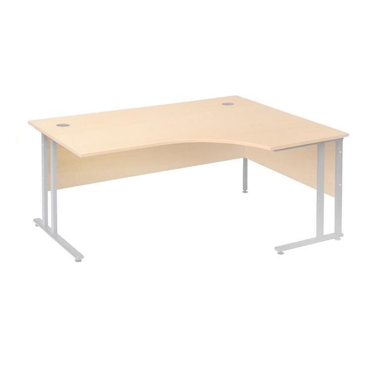 Hjørneskrivebord med Innsynsbeskyttelse