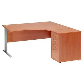 Paket: Hörnskrivbord + 4-lådshurts