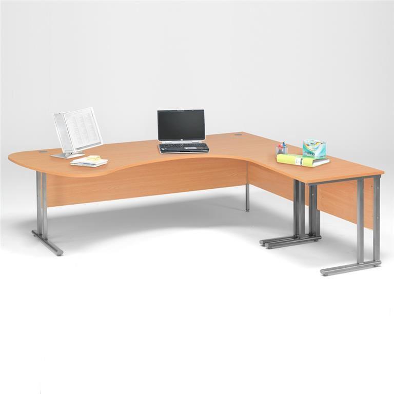 Pakke Skrivebord Hjorne med bue + Avlastningsbord AJ Produkter