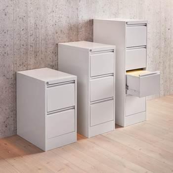 Metalowa szafka z szufladami na dokumenty