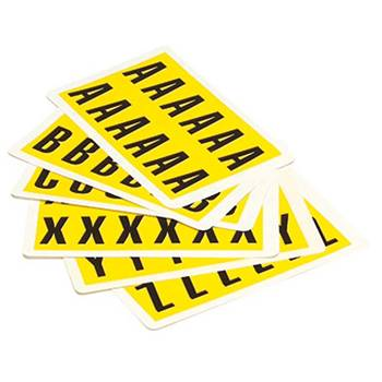 Self adhesive numbers and letters: individual sheets