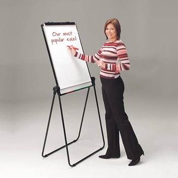 Ultimate double-sided whiteboard & flip chart easel