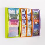 Panorama wall mounted brochure rack
