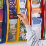 Panorama wall mounted brochure rack