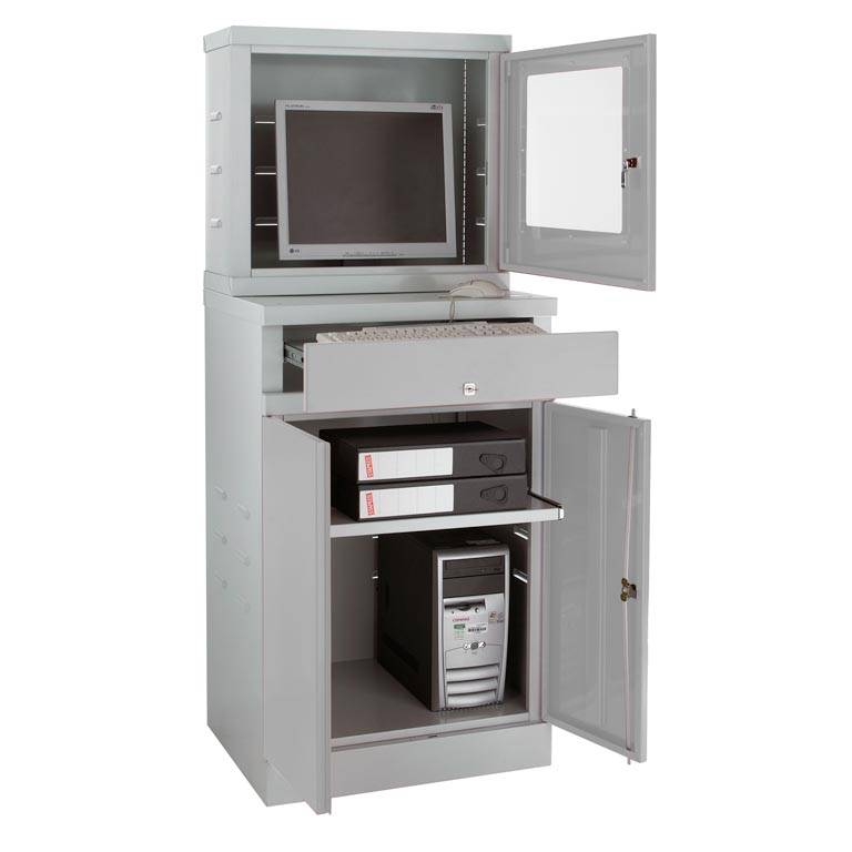 Enclosed Compact Computer Workstation For Flatsceens Aj