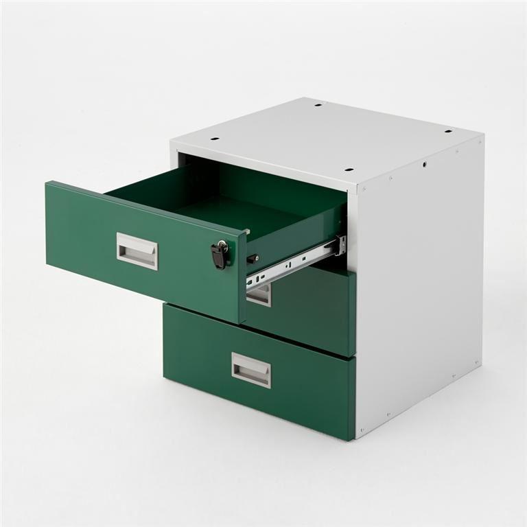Triple drawer unit