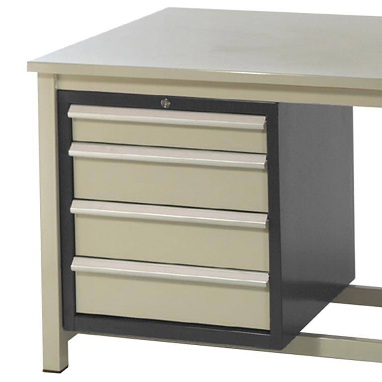 Drawer unit for storage workbench: 4 dwrs