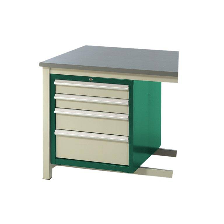 Drawer unit for storage workbench: 4 dwrs