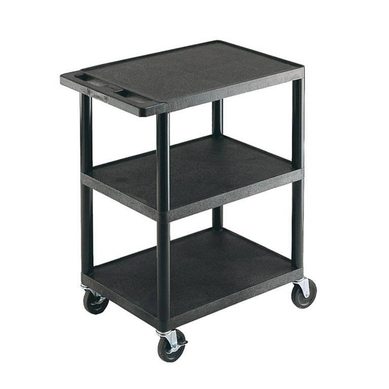 Service trolley: flat shelves