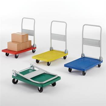 Folding coloured platform trolley