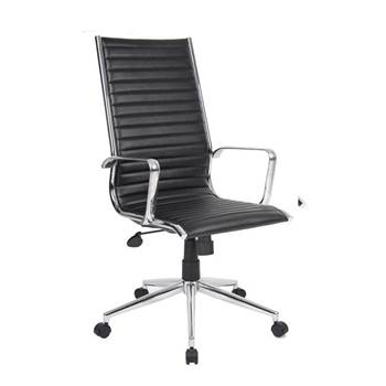 """Bari"" high back leather office chair"
