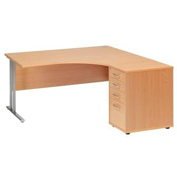 Ergo desk + desk high ped D600mm