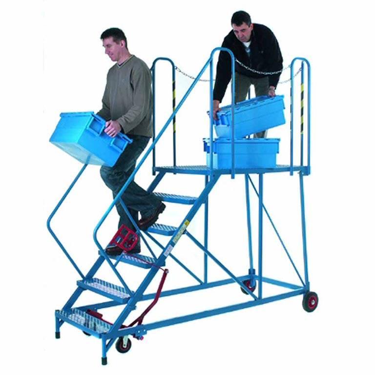 Easy slope mobile platform