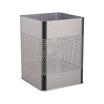 Square waste basket: metal: 18.5L