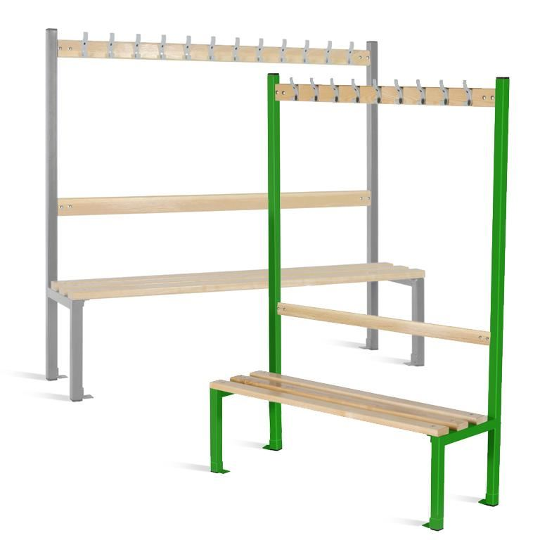 Single-sided school cloakroom benches