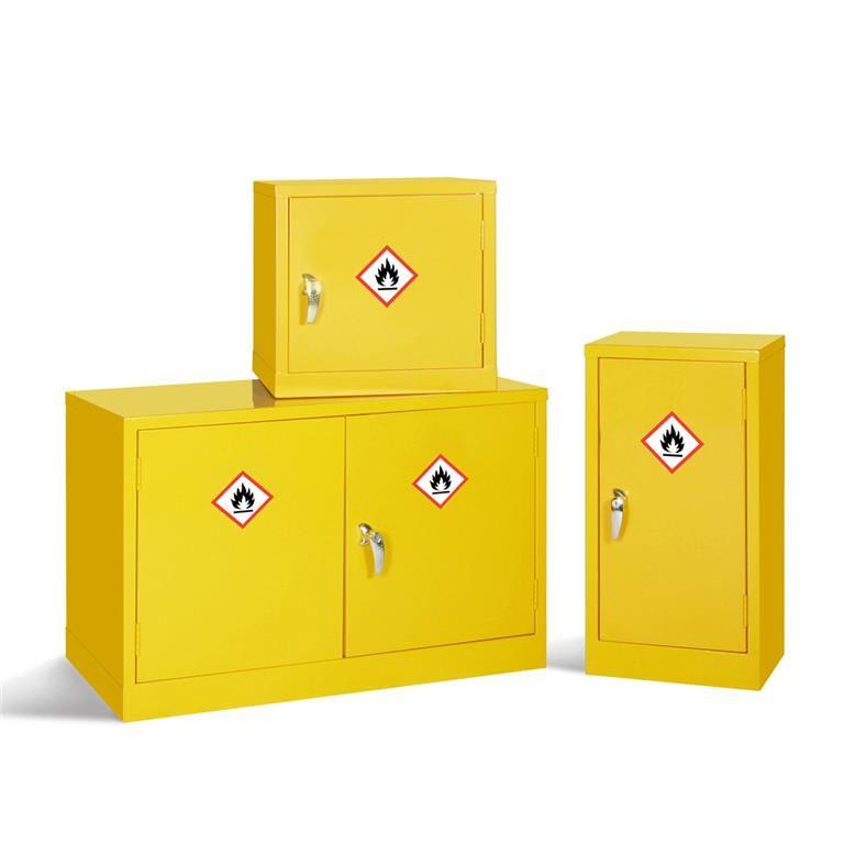 Mini hazardous storage cabinets