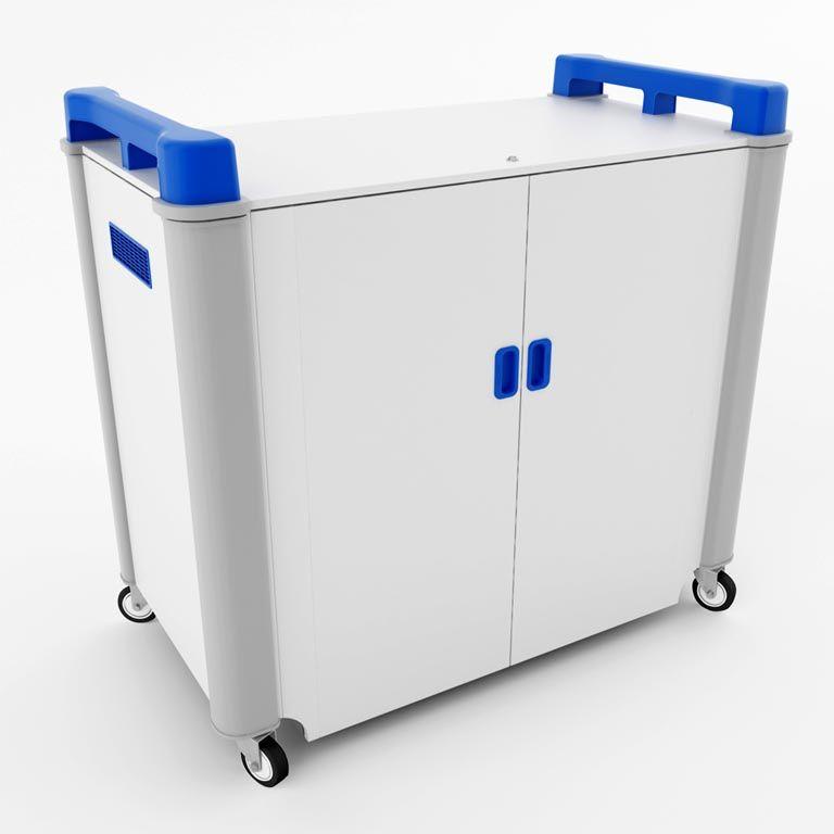 Mobile laptop cabinets: 32 ports: horizontal storage