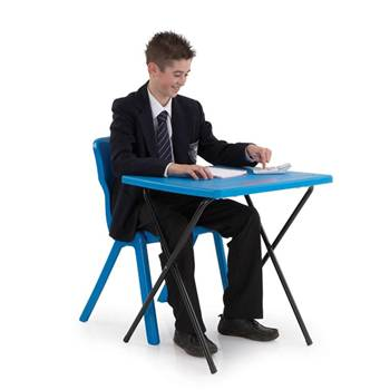 Plastic exam desks