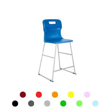 High plastic chairs: H 560 mm