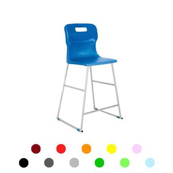 High plastic chairs: H 610 mm