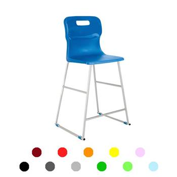 High plastic chairs: H 685 mm