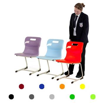 Plastic reverse cantilever chair: H 460 mm