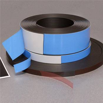 Self-adhesive magnetic strip