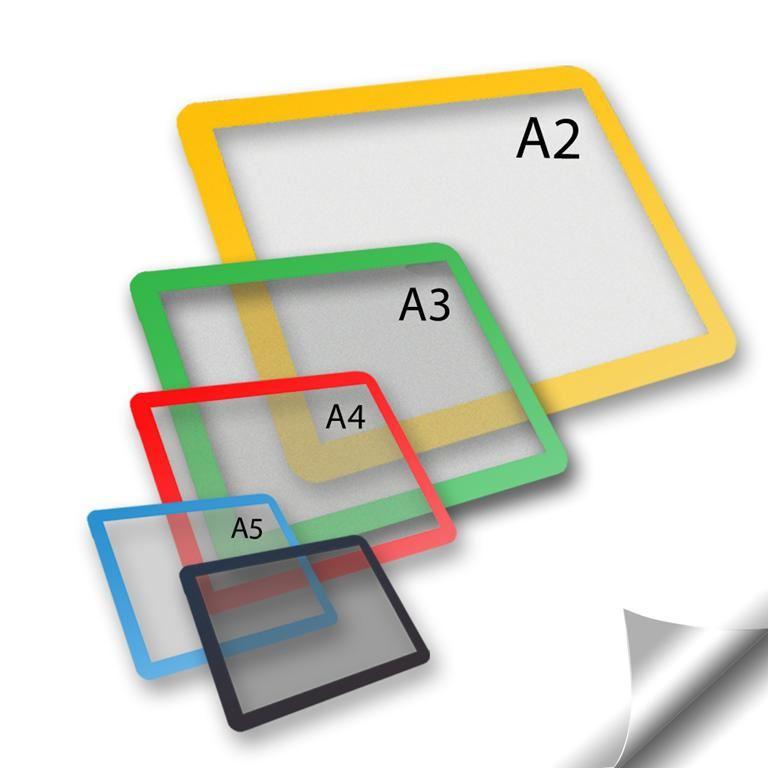 Self-adhesive document frames