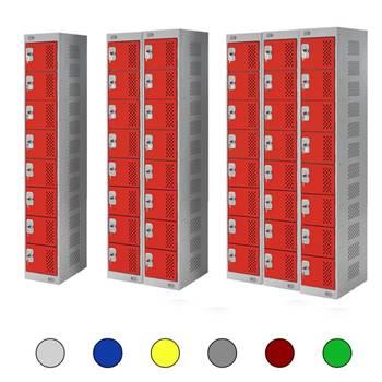 Lockers: 8 doors