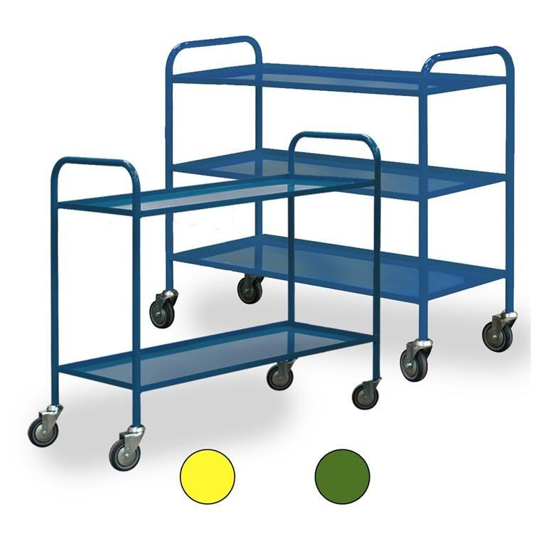 Light-duty shelf trolley