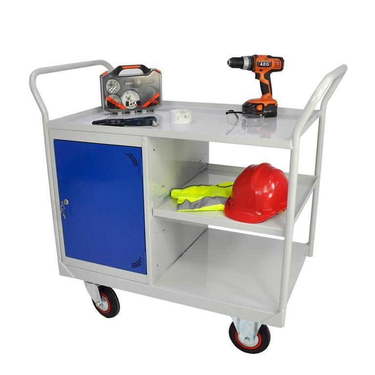 Maintenance trolley: cabinet + shelf