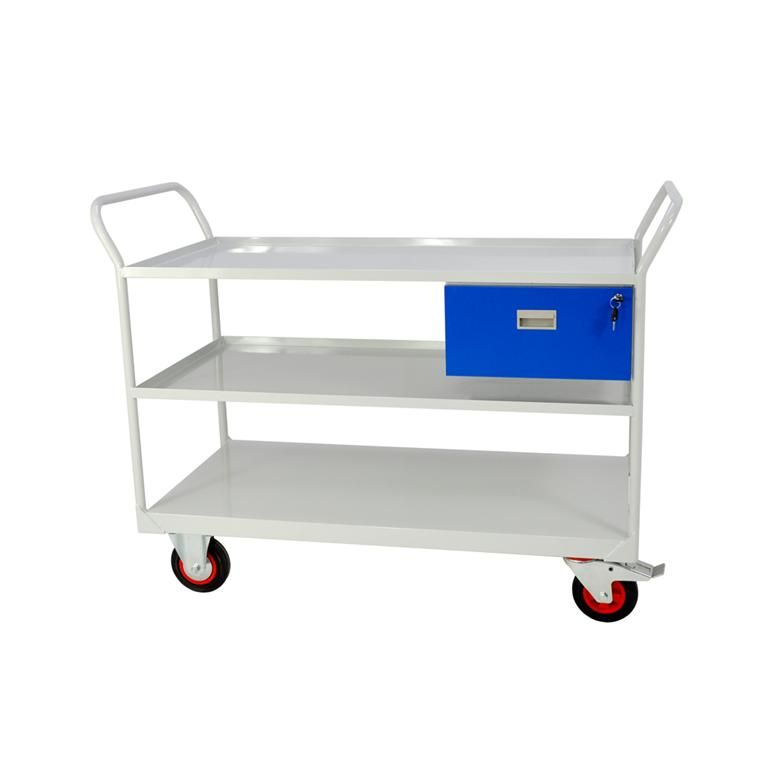Maintenance trolley: 3 shelves + drawer