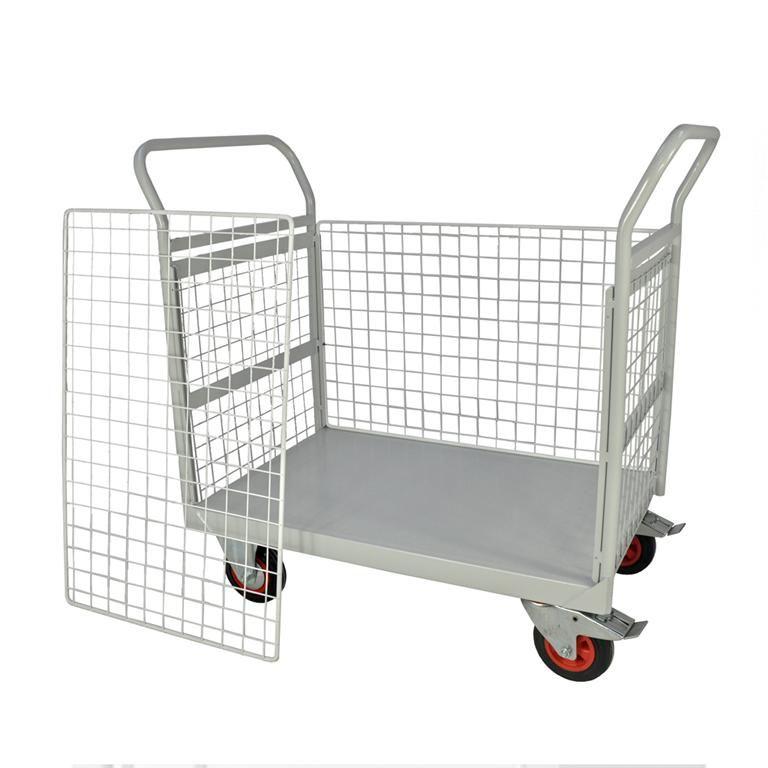 Mailroom trolleys: 4 sides