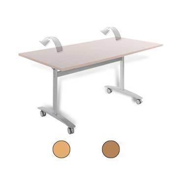 Rectangular fliptop table