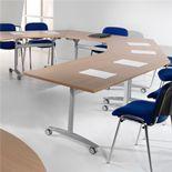 Trapezoidal fliptop table
