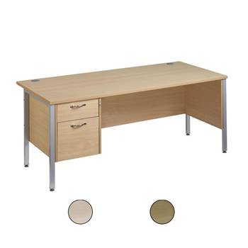 """Maestro 25"" straight desk with 2 drawer pedestal"