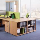 Desk-high bookcase