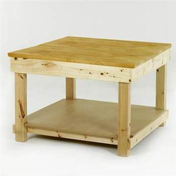 Square timber workbenches