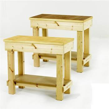 Garage timber workbenches